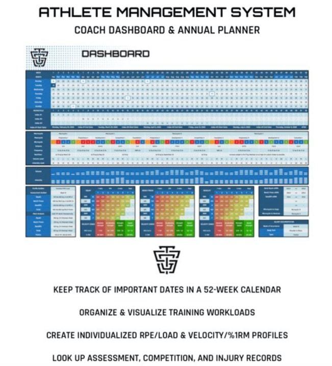 Athlete-Management-System-Coach-Dashboard-Annual-Planner