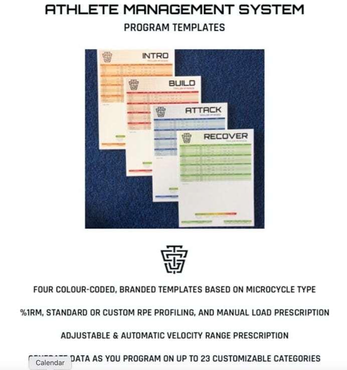 Athlete-Management-System-Program-Templates