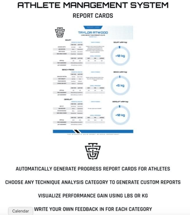Athlete-Management-System-Report-Cards