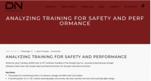 ANALYZING TRAINING FOR SAFETY AND PERFORMANCE