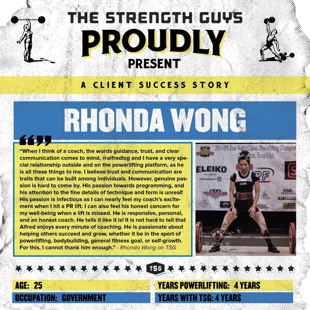 Rhonda Wong Powerlifting Success Story