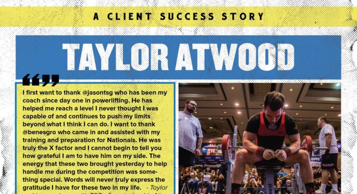 Taylor Atwood Success Story