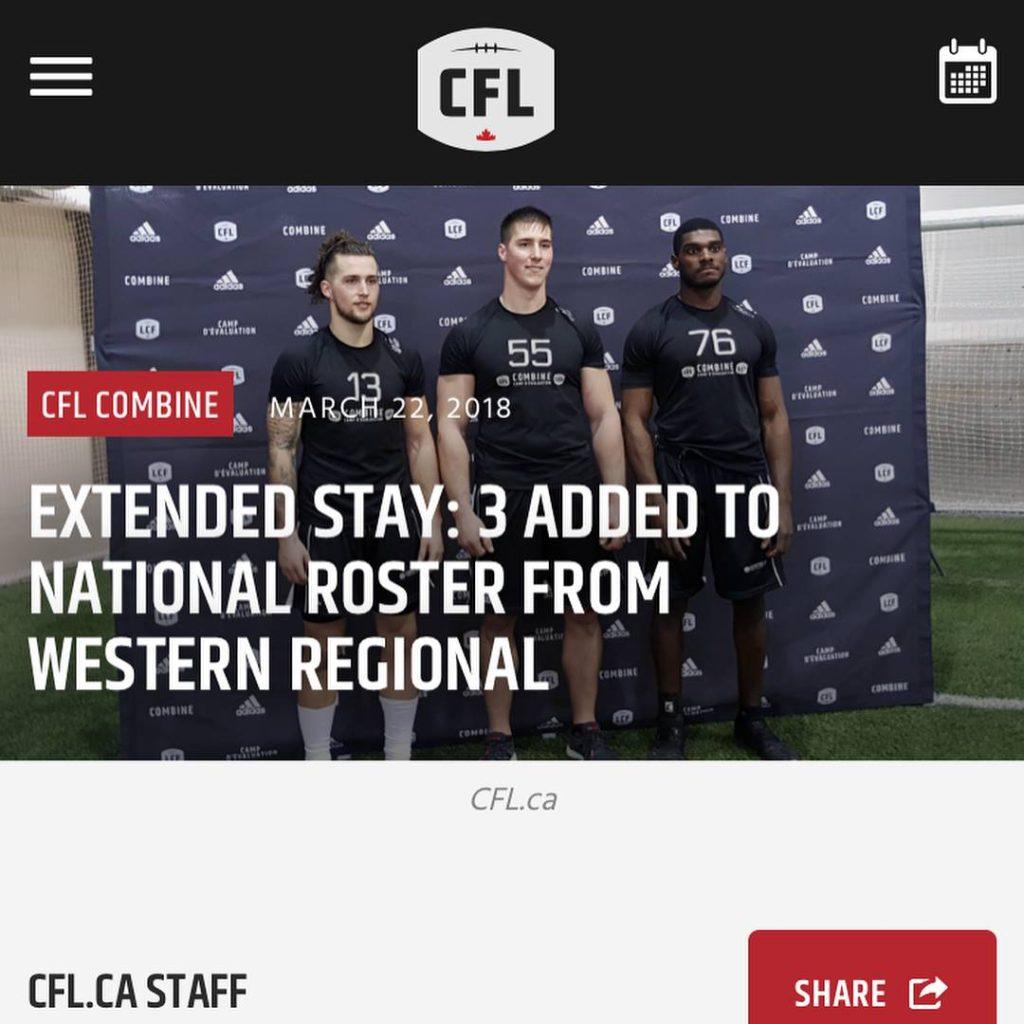 Justin Buren at Regional CFL Combine in Winnipeg