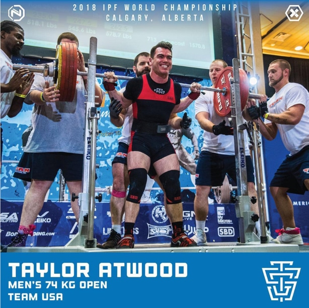 2018 IPF World Championship - Taylor Atwood - Team USA
