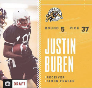 Justin Buren Drafted by Hamilton Tiger Cats