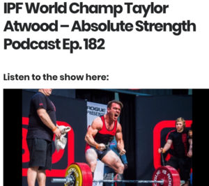 Absolute Strength Taylor Atwood Podcast