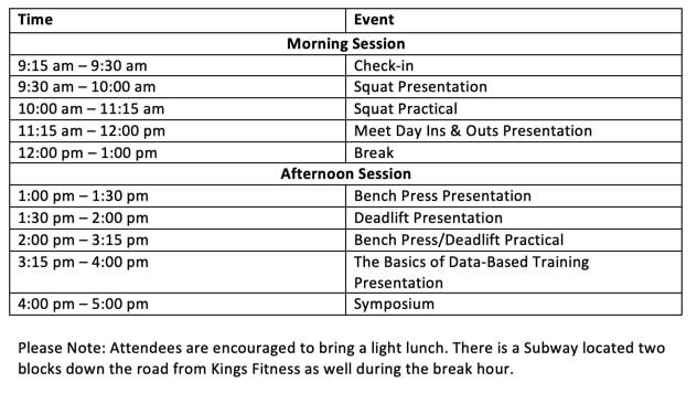 Get Your Power Forum Schedule Of Events