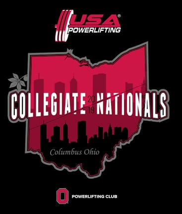 2019 Collegiate Nationals USA Powerlifting OSU
