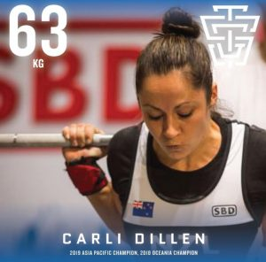 Carli Dillen 2019 IPF Worlds Team TSG