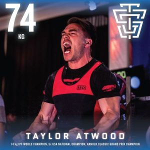 Taylor Atwood 2019 IPF Worlds Team TSG