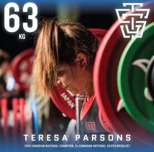 Teresa Parsons 2019 IPF Worlds Team TSG