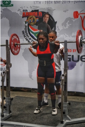Team Zimbabwe Strength Gal Audrey