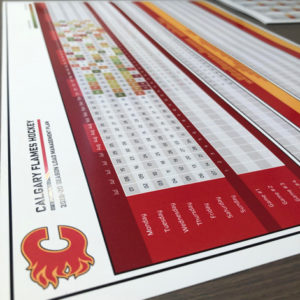 Calgary Flames Yearly Calendar for the Planning of Training and Practice Workloads Template Design