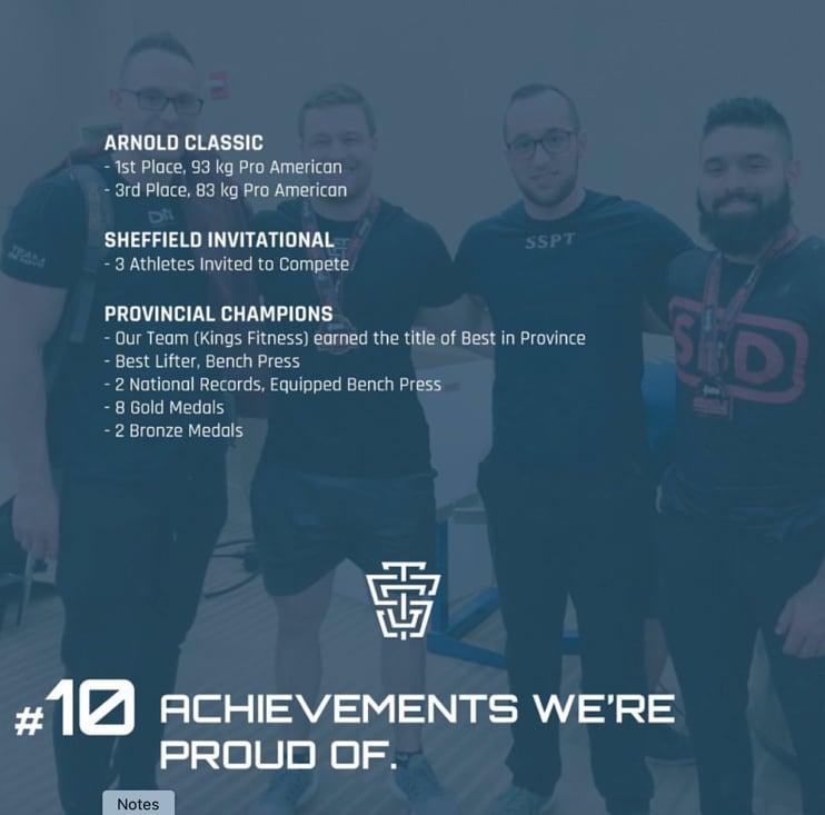 TSG NYE 2019 Achievements