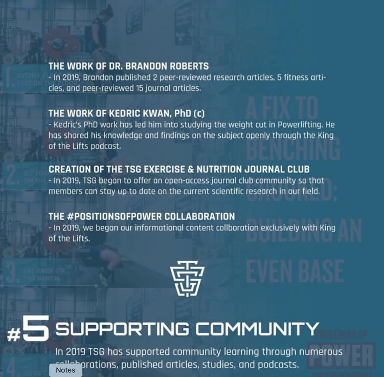 TSG NYE 2019 Supporting Community