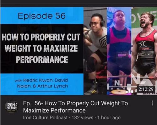 Iron Culture Weight Cut Kedric Kwan Podcast